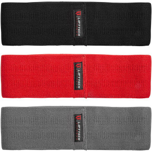 Lift Tech Fitness Comp Resistance Bands 3-Pack - Red/Black/Gray