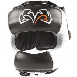 Rival Boxing Face Guard Headgear - Black/White