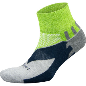 Balega Enduro Quarter Running Socks - Green/Gray