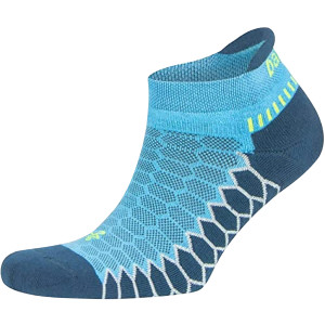 Balega Silver No Show Running Socks - Legion Blue/Ethereal Blue