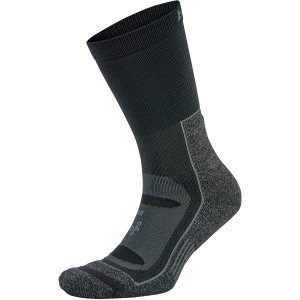 Balega Blister Resist Crew Running Socks - Gray/Black