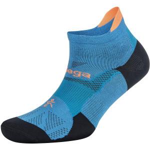 Balega Hidden Dry No Show Running Socks - Bright Turquoise/Navy