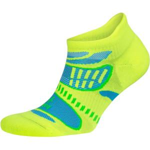 Balega UltraLight No Show Running Socks - Neon Lime/Ethereal Blue