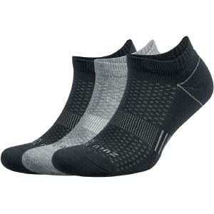 Balega Zulu No Show Running Socks 3-Pack - Black/Gray
