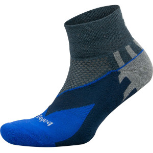 Balega Enduro Quarter Running Socks - Charcoal/Cobalt