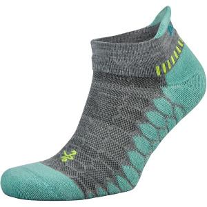 Balega Silver No Show Running Socks - Midgray/Aqua