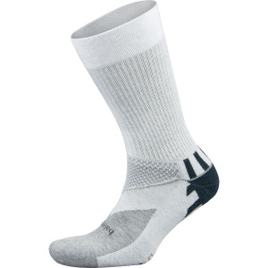 Balega Enduro Crew Running Socks - White/Gray Heather