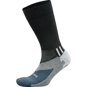 Balega Enduro Crew Running Socks - Black/Gray Heather