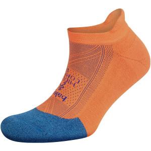 Balega Hidden Comfort No Show Running Socks - Denim/Neon Orange