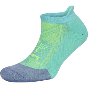 Balega Hidden Comfort No Show Running Socks - Lilac/Neon Aqua