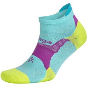 Balega Hidden Dry No Show Running Socks - Neon Aqua/Neon Lime