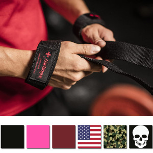 "Harbinger 21.5"" Padded Cotton Weight Lifting Straps"