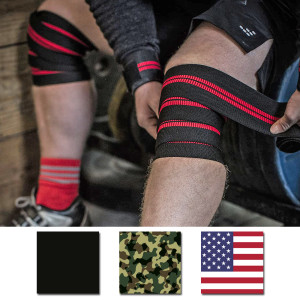 "Harbinger 78"" Red Line Weight Lifting Knee Wraps"