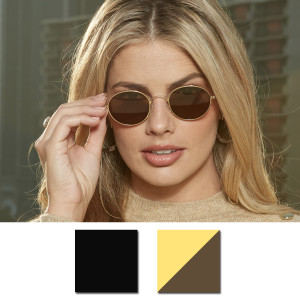 ThinOptics Palo Alto Round Sunglasses with Aluminum Case
