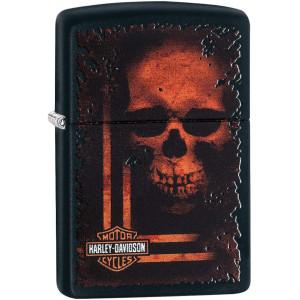 Zippo Harley-Davidson Orange Skull Refillable Windproof Lighter