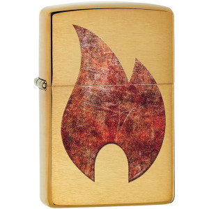 Zippo Rusty Flame Plate Refillable Windproof Lighter