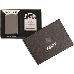 Zippo Black Ice Lighter and Pipe Insert Gift Set