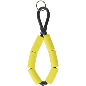 Chums Floating Foam Stretch TPU Construction Keychain - Yellow