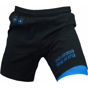 Chaos and Order Balance Series 2-Layer Premium No-Gi BJJ Shorts - Black