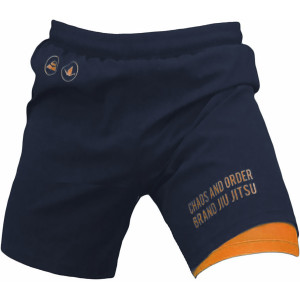 Chaos and Order Balance Series 2-Layer Premium No-Gi BJJ Shorts - Navy