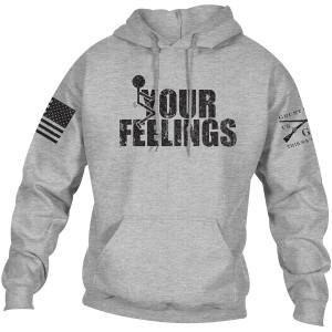 Grunt Style Fck Your Feelings Pullover Hoodie - Sport Gray