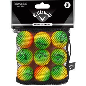 Callaway HX Soft Flight Practice Golf Balls - 9-Pack - Multicolor