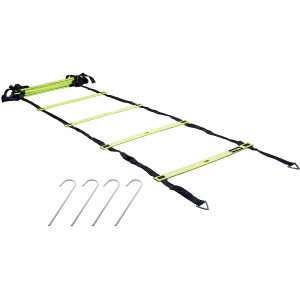 Lifeline USA Speed and Agility Training Ladder - Electric Green/Black