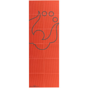Lifeline USA Natural Fitness Warrior 3mm ROAM Folding Yoga Mat - Orange