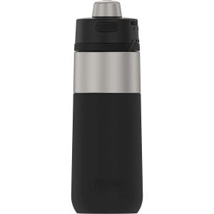 Thermos 18 oz Guardian Stainless Steel Water Bottle - Matte Steel/Espresso Black