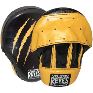 Cleto Reyes Tiger Punch Mitts - Black/Yellow