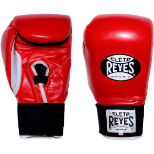 Cleto Reyes Amateur Hook and Loop Training Boxing Gloves - Red