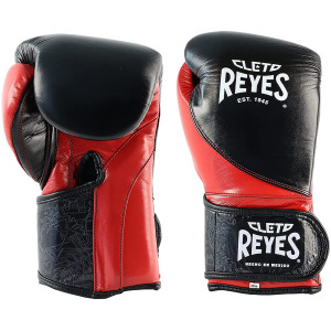 Hook and Loop Training Boxing Gloves - Black/Red