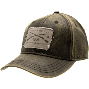Grunt Style Faux Waxy Cotton Hat - Military Green