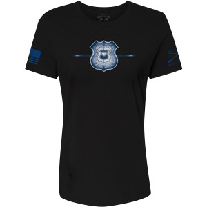 Grunt Style Women's Relaxed Fit Iron Police T-Shirt - Black