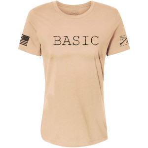 Grunt Style Women's Relaxed Fit Basic T-Shirt - Tan
