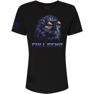 Grunt Style Women's Relaxed Fit Full Send T-Shirt - Black