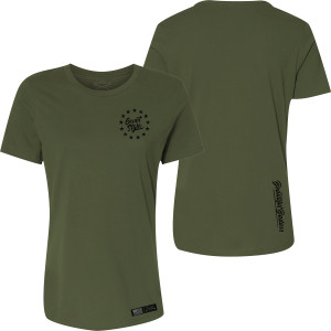 Grunt Style Women's Relaxed Fit Beautiful Badass 2.0 T-Shirt - Military Green