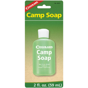Coghlan's Camp Soap, 2 fluid ounces, Squeezable Bottle, Clean Dishes or Gear