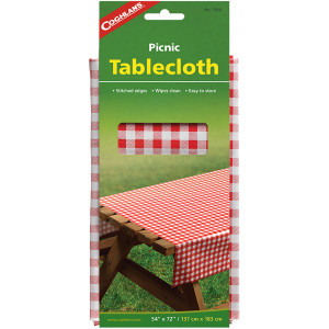 """Coghlan's Picnic Tablecloth, 54"""" x 72"""", Camp Table Cloth Wipes Clean Camping"""