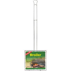 Coghlan's Grill Broiler Basket, Hinged Design & Extension Handle, Camp Grilling
