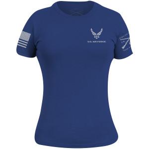Grunt Style Women's USAF - Basic Logo T-Shirt - Royal Blue
