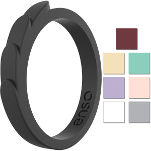 Enso Rings Feather Series Silicone Ring
