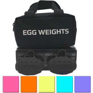 Egg Weights Cardio 2.0 lb Set with Case, Weighted Shadow Boxing Gloves Dumbbells