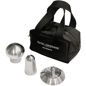 Egg Weights Total Massage Tool - Pinpoint, Ball, Flat, and Edge Fascia Scraper