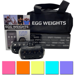 Egg Weights Cardio Max 3.0 lb Set with Case, Weighted Yoga Dumbbell Boxing Glove
