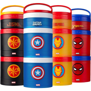 Whiskware Marvel Stackable Snack Pack Containers