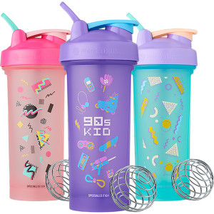 Blender Bottle 90's Special Edition Classic 28 oz. Shaker Cup with Loop Top