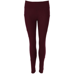 FitKicks Crossovers Active Lifestyle Leggings - Burgundy