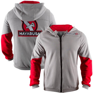 Hayabusa Wingback Classic Fit Zip-Up Hoodie - Gray/Red
