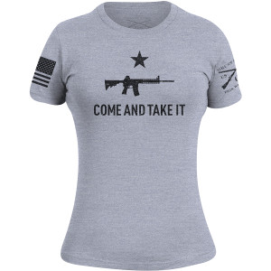 Grunt Style Women's Come and Take It 2A Edition T-Shirt - Heather Gray